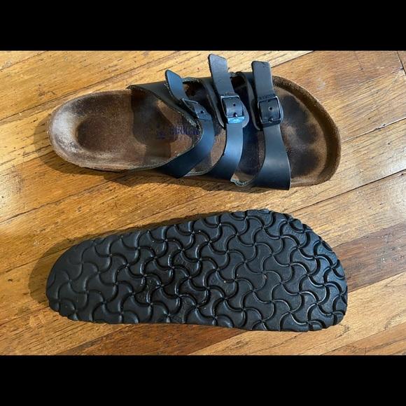 Birkenstock FLORIDA black 3-strap sandal.